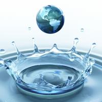 globe as a waterdrop