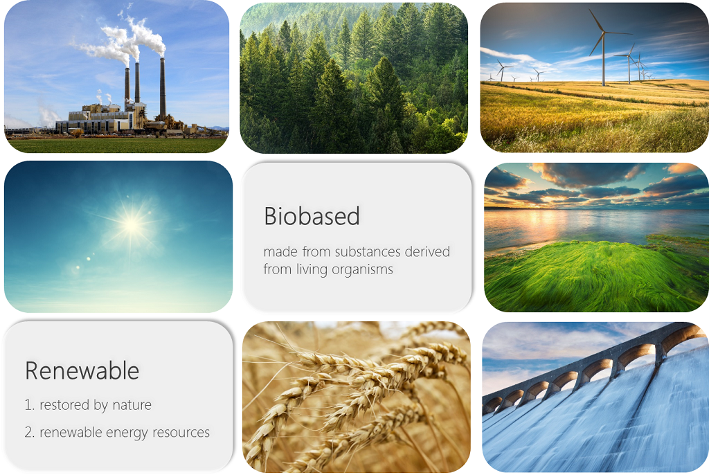 Biobased and renewable