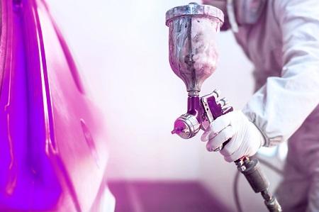 Coating purple spray