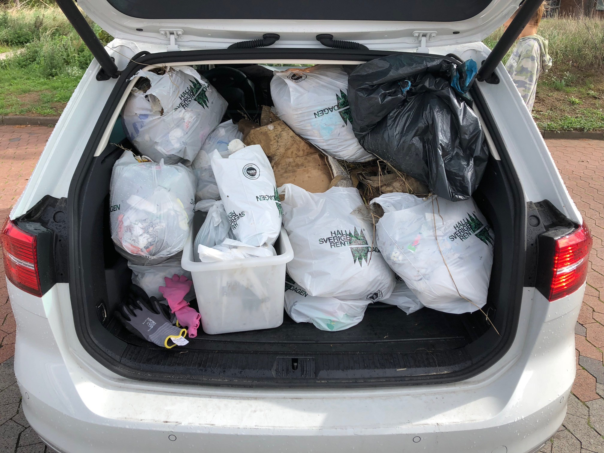 World Cleanup Day - car with bags