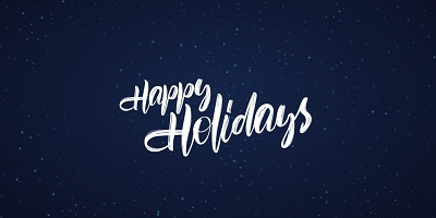 Happy holidays and best wishes for the coming year!