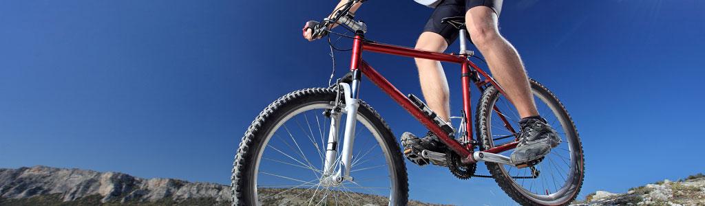 red bike mountain
