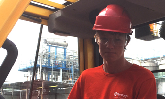 Perstorp employee Albin